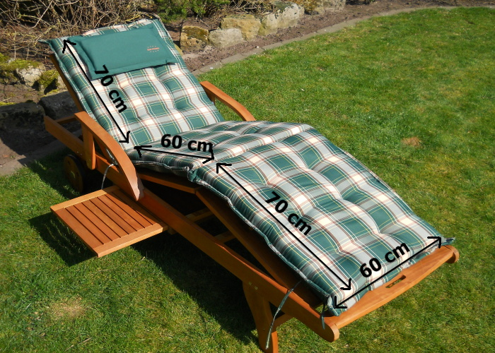 auflage gartenliege sonnenliege liegestuhl polster von sun promo ebay. Black Bedroom Furniture Sets. Home Design Ideas