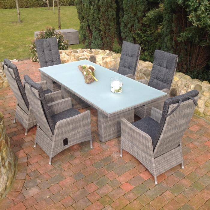 gartengarnitur polyrattan sitzgruppe gartenset gartenm bel samoa sun promo ebay. Black Bedroom Furniture Sets. Home Design Ideas